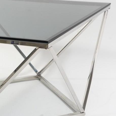 thumb Журнальный стол Silver A Silver A 80х80 Дымчатый/Серебряный 4