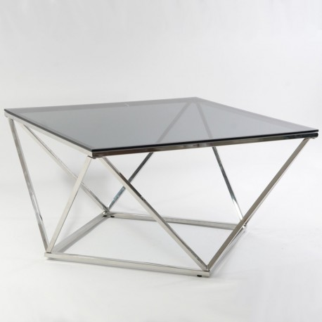 thumb Журнальный стол Silver A Silver A 80х80 Дымчатый/Серебряный 3